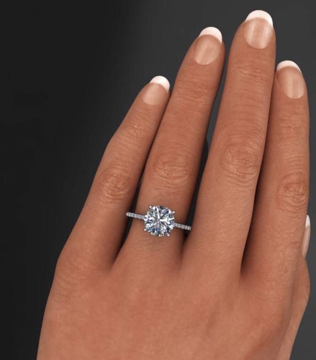 Simply stunning moissanite engagement