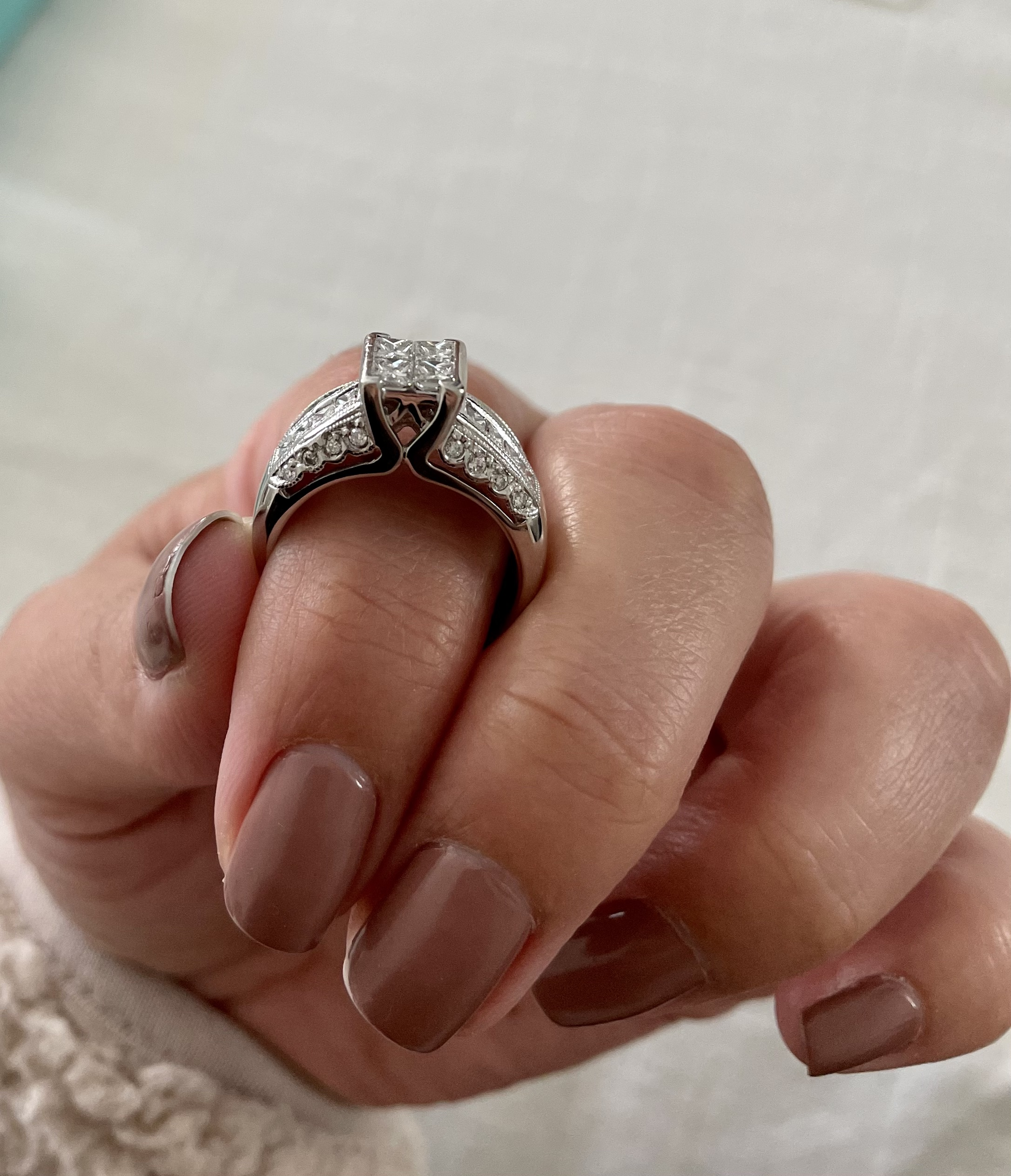 1ct Quad Diamond Engagement
