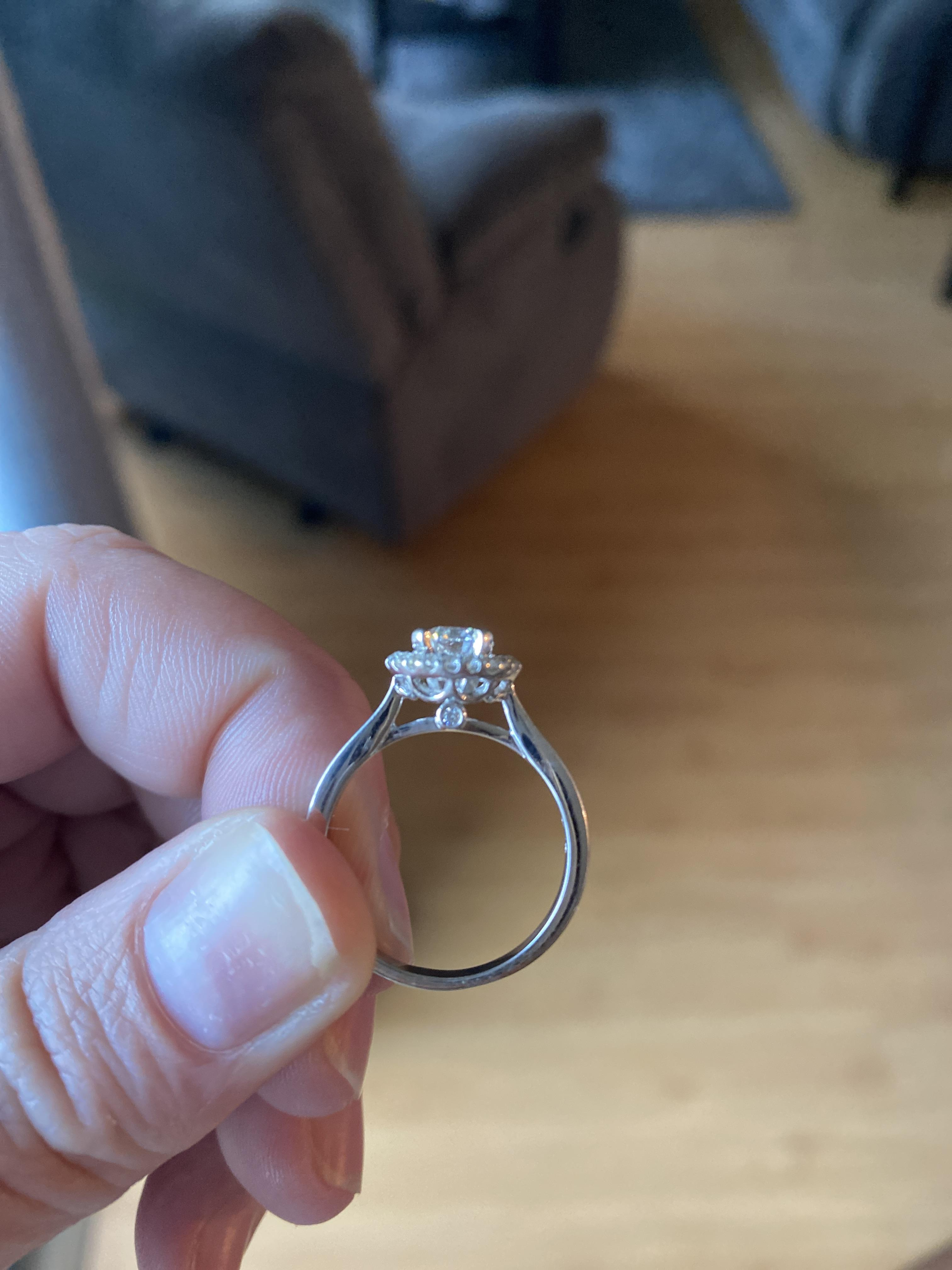 14k white gold halo