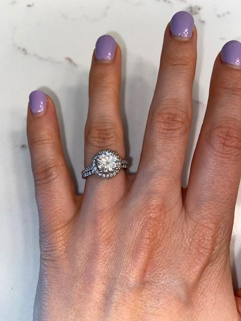 Engagement ring with matching