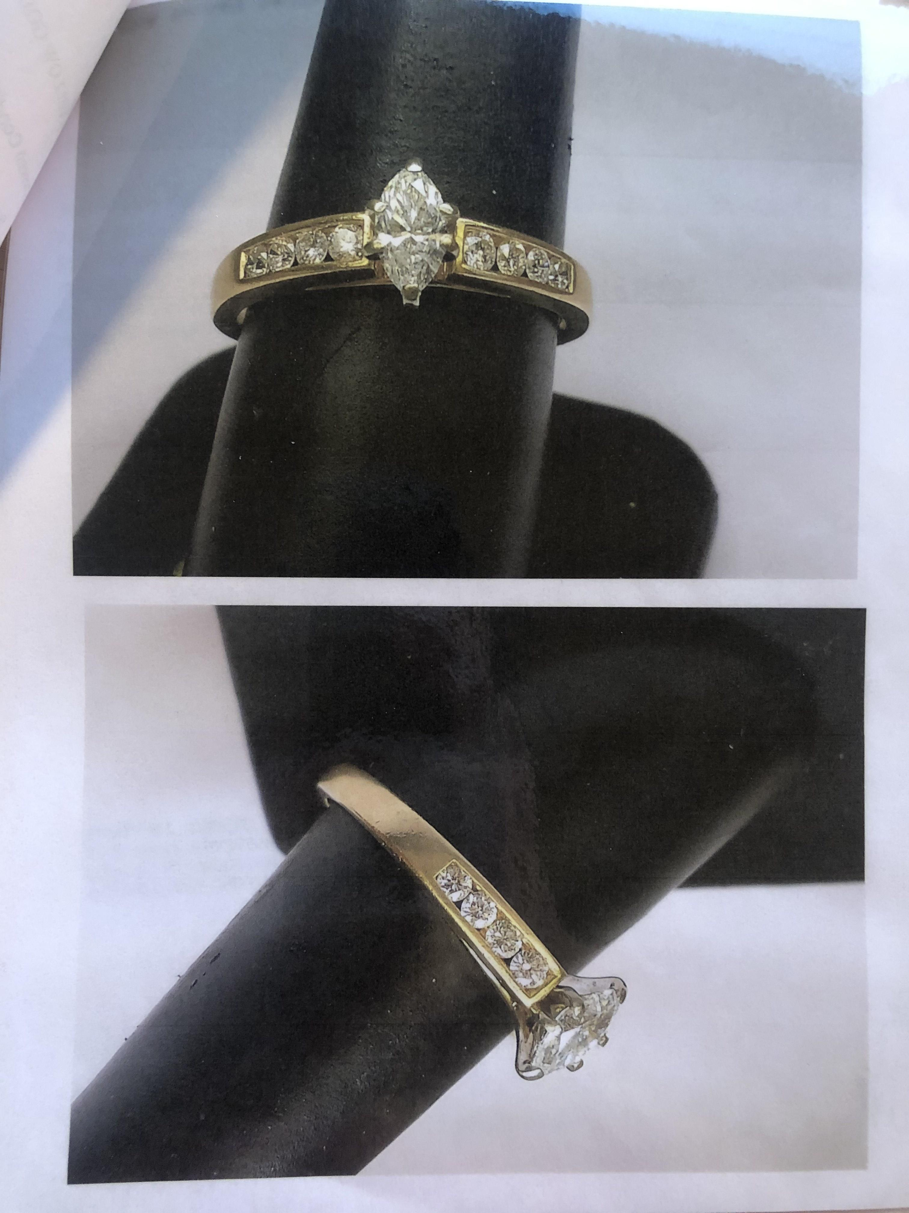 Marquise Cut 14K Yellow