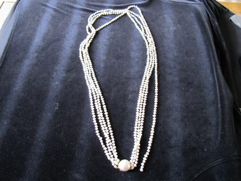 Cultured Rice Pearl Necklace