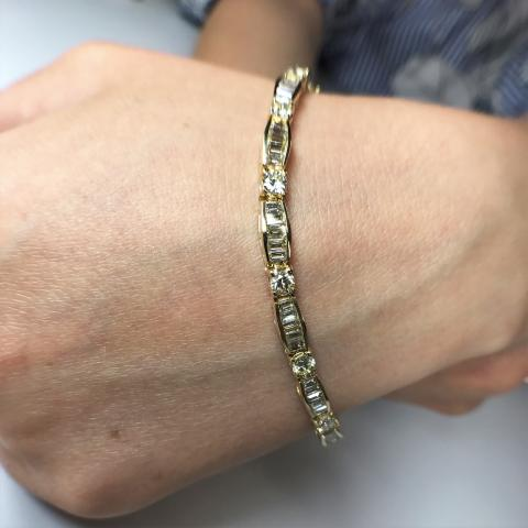 14-K Yellow Gold Baguette