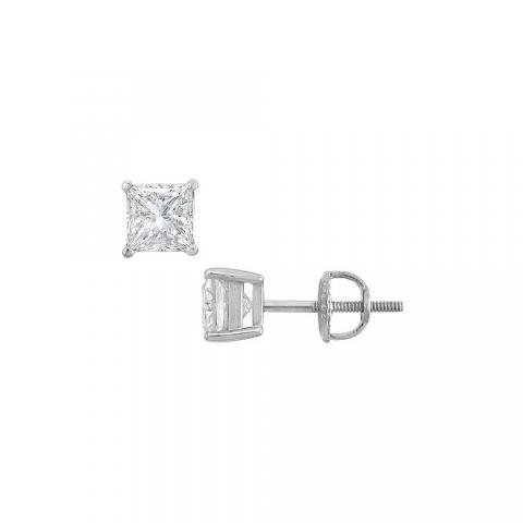 14K White Gold Princess