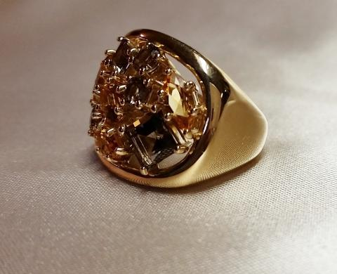 14K Yellow Gold Citrine