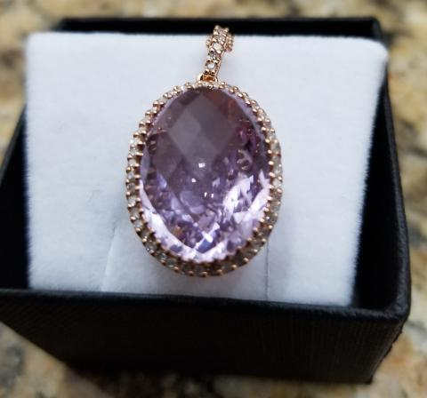 Amethyst and Pendant Set