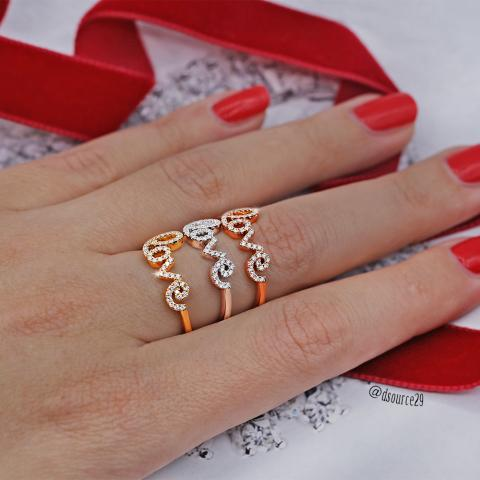 Love ring in yellow