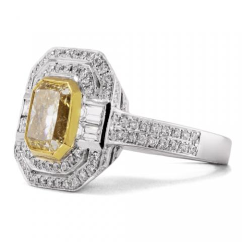 Contemporary Cocktail Ring GIA