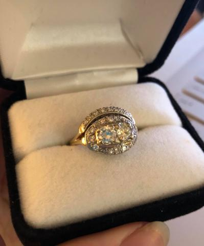 Vintage Combined Wedding Ring