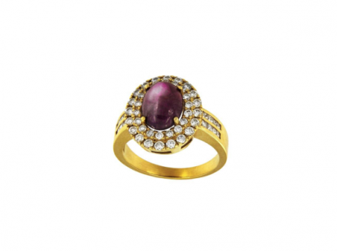 Yellow Gold Ring with