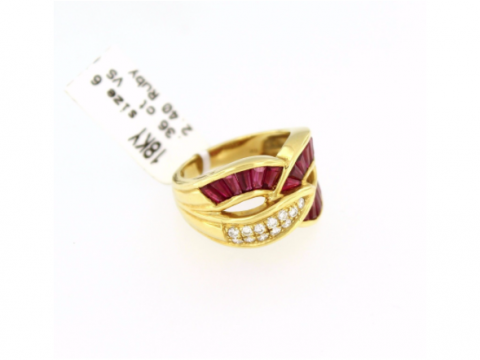 Gorgeous Vintage Ruby Diamond