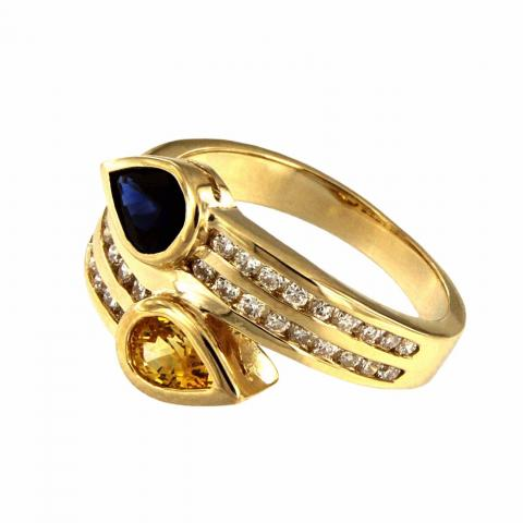 Double Gold Ring with
