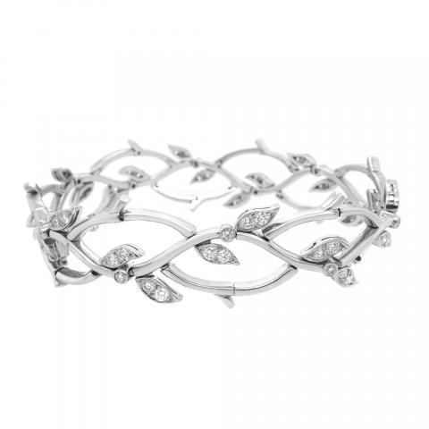 f58761ea1 1990s Tiffany & Co. Diamond Platinum Garland Bracelet (F, VS1) | I ...