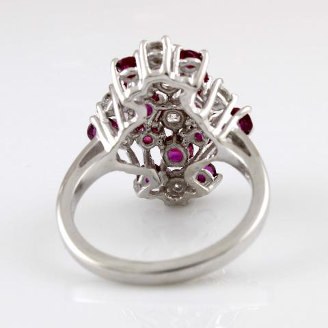 14K White Gold Ruby