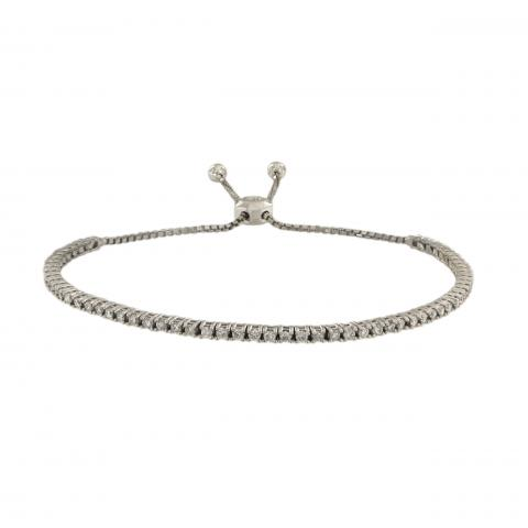 Adjustable Diamond Bracelet In
