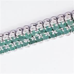 Silver bracelet with 120