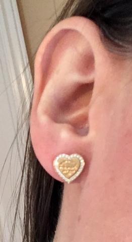 Rare Tiffany Co Return To 18k Rose Gold Earrings With Round Brilliant Diamonds