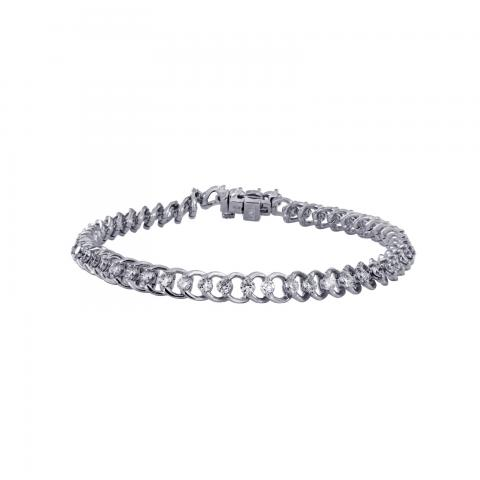 Diamond Link Bracelet in