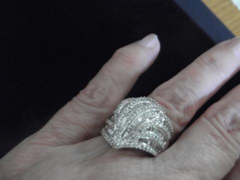 Fancy Diamond Dome Ring