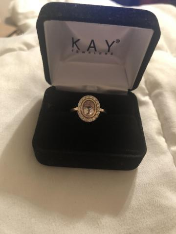 Kay Jewelers Oval Halo Morganite Engagement Ring I Do