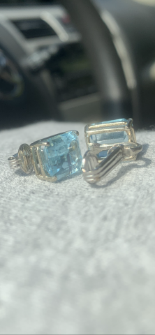 Vintage Aquamarine earrings
