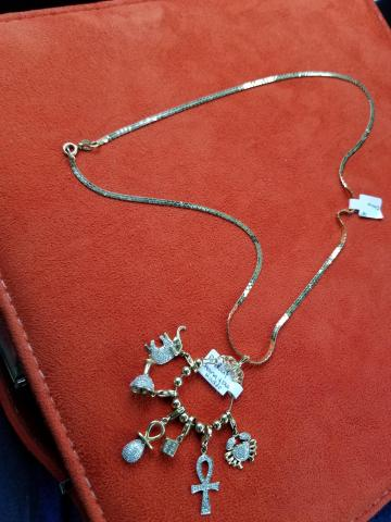 Necklace and  charmes