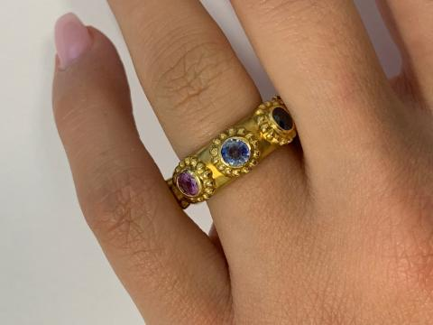 Multi Sapphire Band with