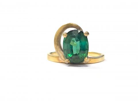 Vintage Green Tourmaline Ring