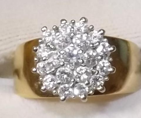 Ladies Diamond Cluster Ring