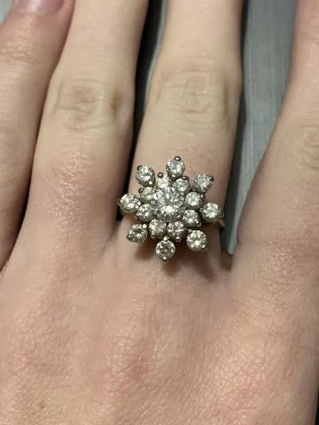 Snowflake Cocktail Diamond ring