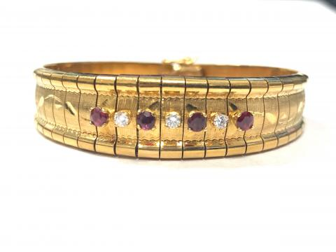 Gold Bracelet with Rubies