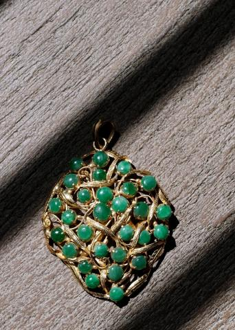18k Gold Pendant with
