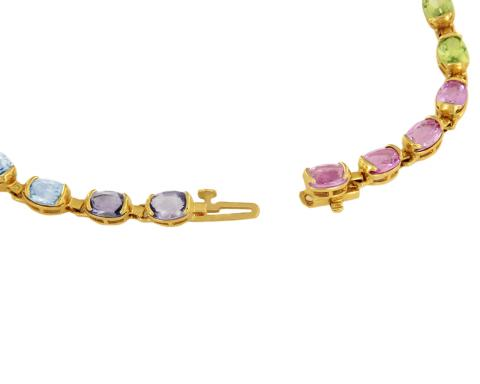 Multicolored bracelet with Natural