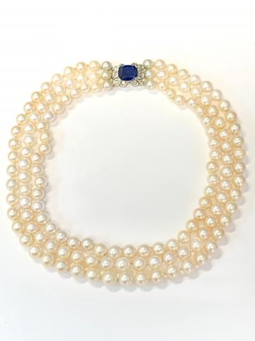 3-Strand Pearl Necklace with
