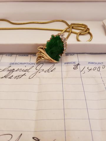 Gold Jade Necklace