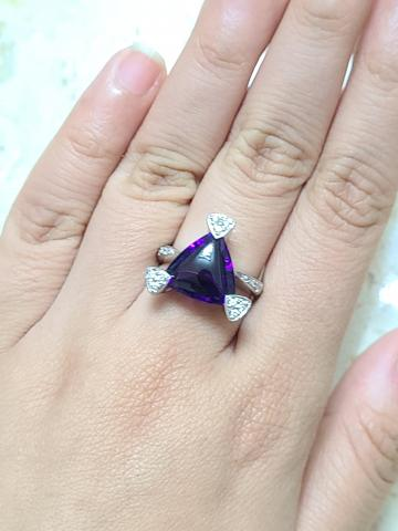 Amethyst ring made in