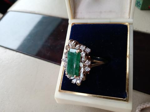Spectacular vintage emerald and