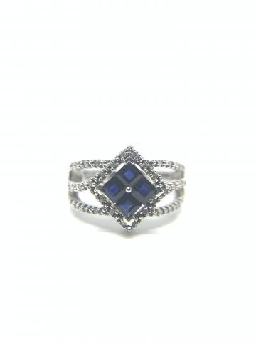 Sapphire and Diamond Sterling