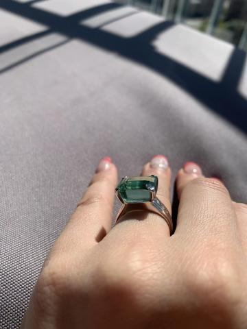 White gold ring with