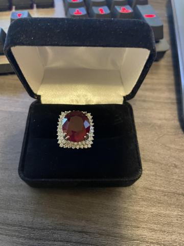 17.5ct Ruby and 1.5