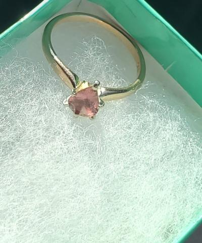 Pink Saphire engagement ring