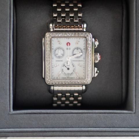 Michele Diamond Deco Watch-