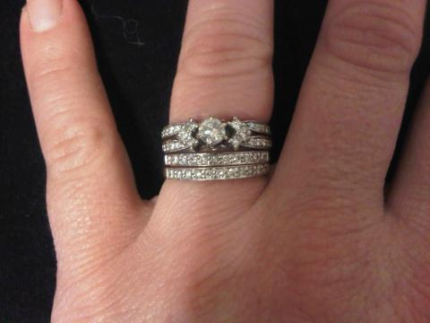 Gorgeous 3 Band Wedding Set Can Be Worn 2 Different Ways I Do