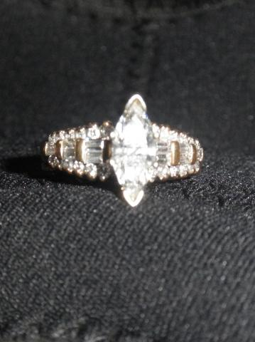 ad30e76b69d24 1ct. Marquise Center with .67ct side diamonds. IGI Certified | I Do ...