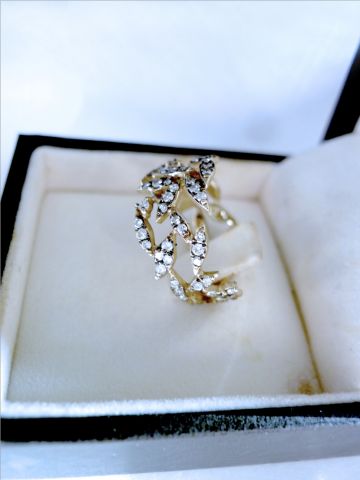 H Stern Noble Gold Nature Ring Collection Size 6 25