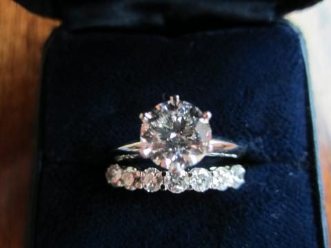 tapered prong diamond of set ring millegrain rings x photo mountings wonderful wedding tiffany engagement settings