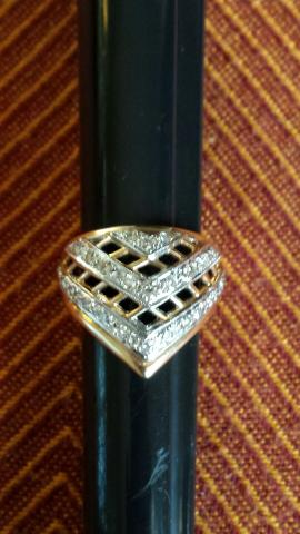 17K GOLD~LADIES DIAMOND(.75_3/4 CARAT)~NOS~WEDDING♡ANNIVERSARY