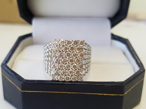 14K White Gold and