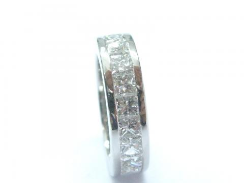 Platinum NATURAL Princess Cut