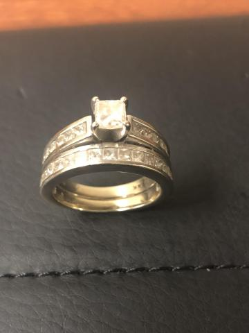 Princess cut engagement with
